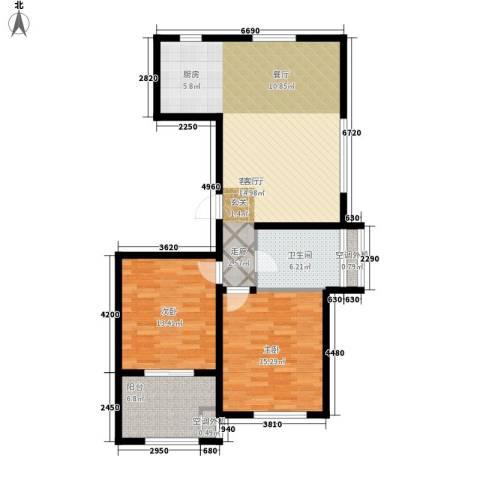 伴山蓝庭2室1厅1卫0厨90.00㎡户型图