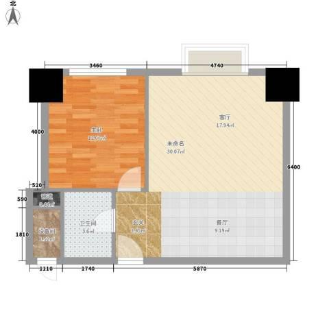 紫薇龙腾新世界1室0厅1卫0厨67.00㎡户型图
