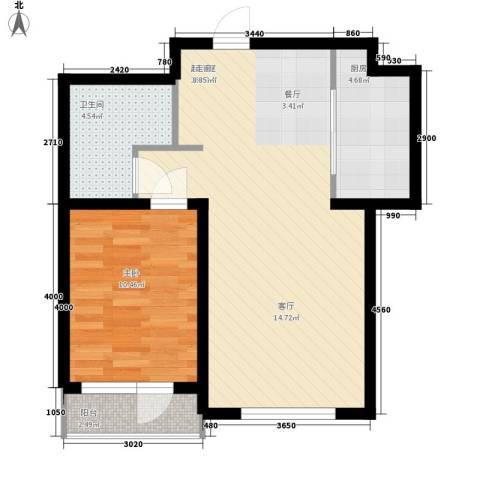 富虹太子城1室0厅1卫1厨70.00㎡户型图