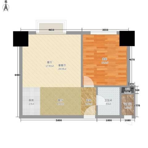 紫薇龙腾新世界1室1厅1卫0厨67.00㎡户型图