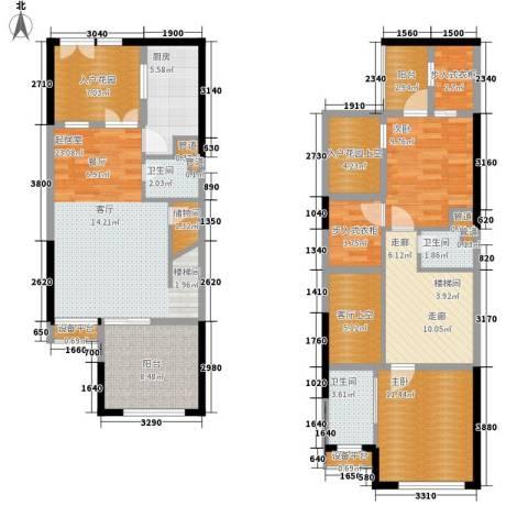 复地新城就2室0厅3卫1厨153.00㎡户型图