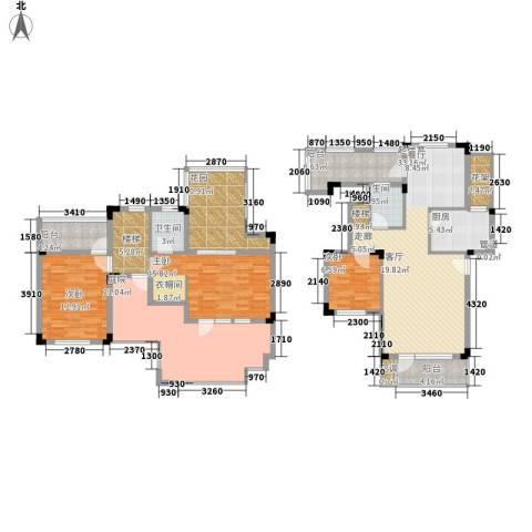 中铁逸都国际3室0厅2卫1厨142.00㎡户型图