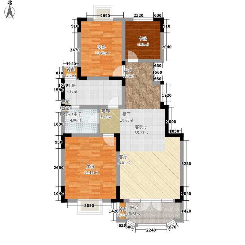 路劲太阳城113.00㎡金旭园1、2、15号楼1层B户型