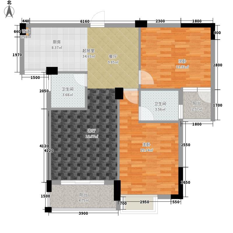 枫桥尚城93.41㎡一期4栋11层C-5户型