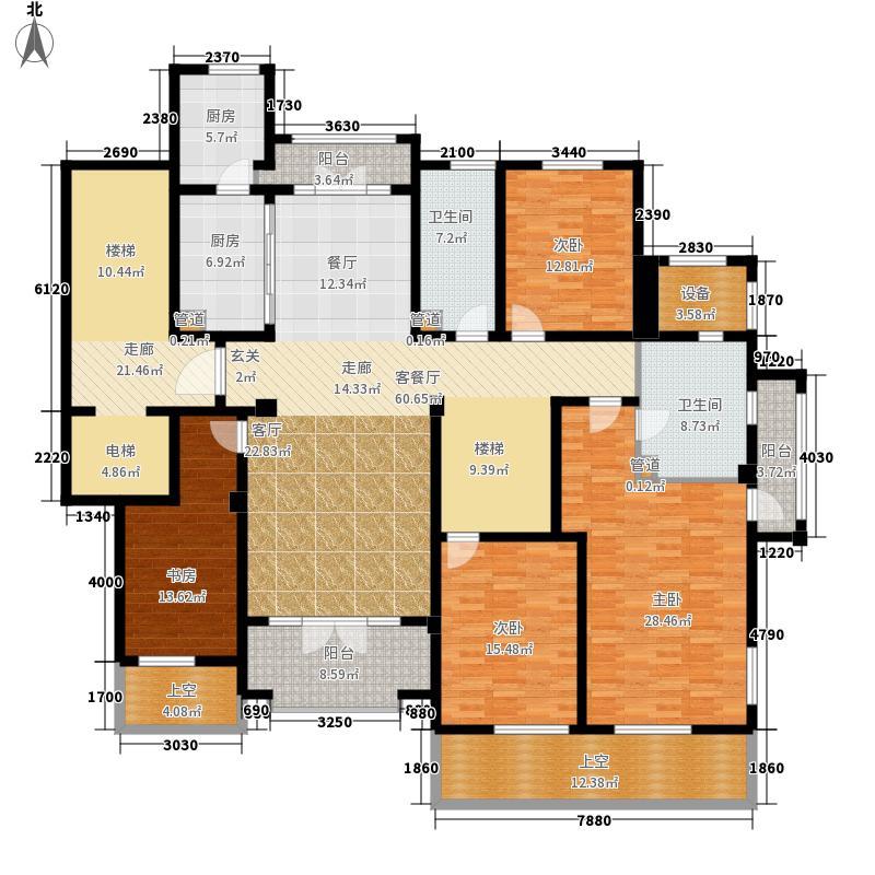 绿城西子・田园牧歌215.00㎡揽翠苑4-C2户型4室2厅3卫