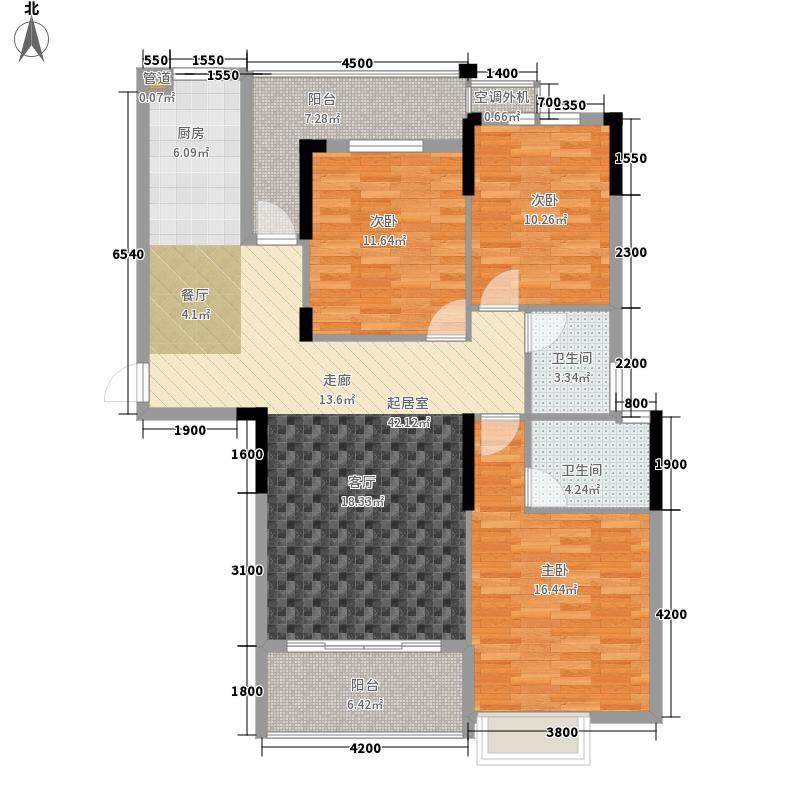 枫桥尚城124.12㎡一期5栋18层E-3户型