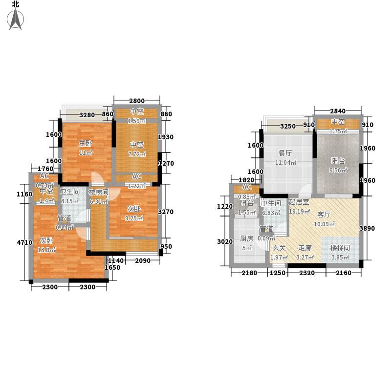 东海滨江城68.33㎡三期6号楼标准面积6833m户型