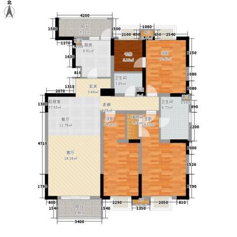 天江格调兰庭4室0厅2卫1厨149.00㎡户型图