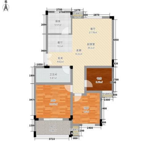 河坊人家3室0厅1卫1厨100.00㎡户型图