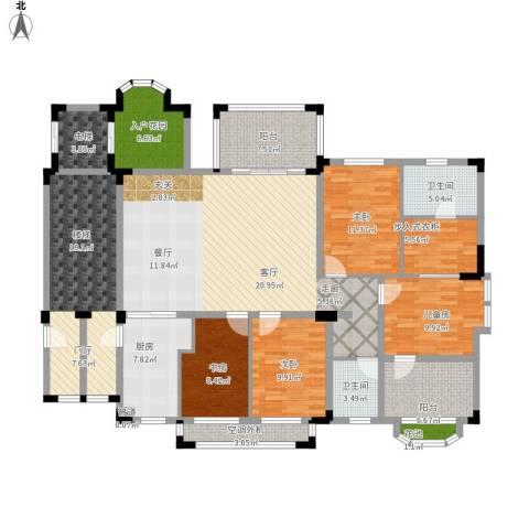 万科紫台4室1厅2卫1厨217.00㎡户型图