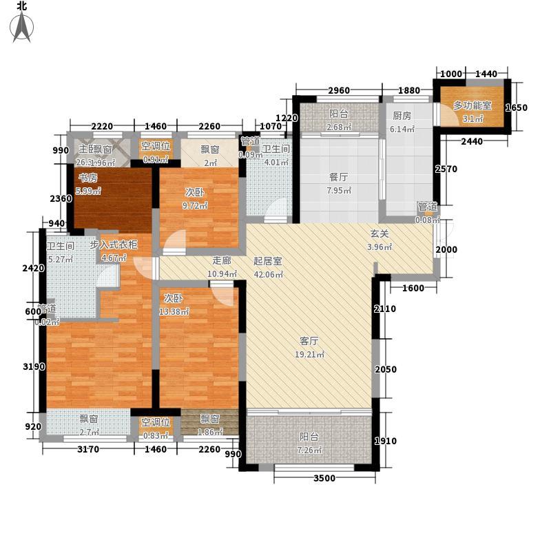 绿地中央广场142.00㎡卢浮宫馆F户型