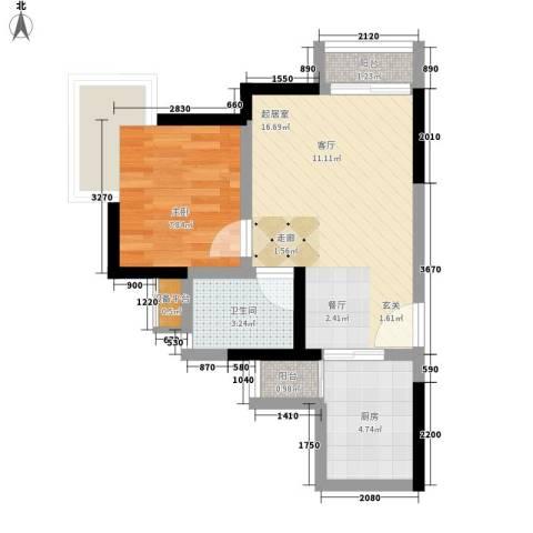 地博春天1室0厅1卫1厨42.00㎡户型图