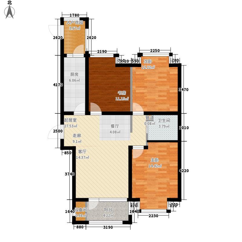 阿尔卡迪亚96.00㎡阿尔卡迪亚96.00㎡3室2厅1卫户型3室2厅1卫
