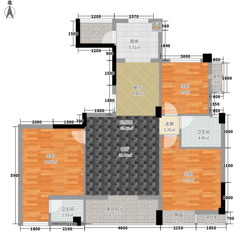 枫桥尚城120.20㎡一期2栋8层B-2户型