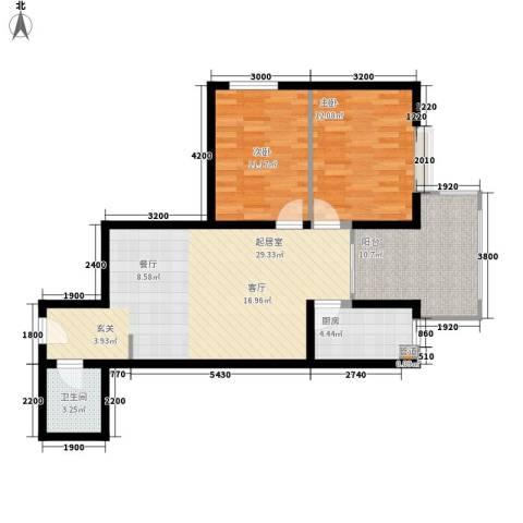 水滴Uhome2室0厅1卫1厨92.00㎡户型图