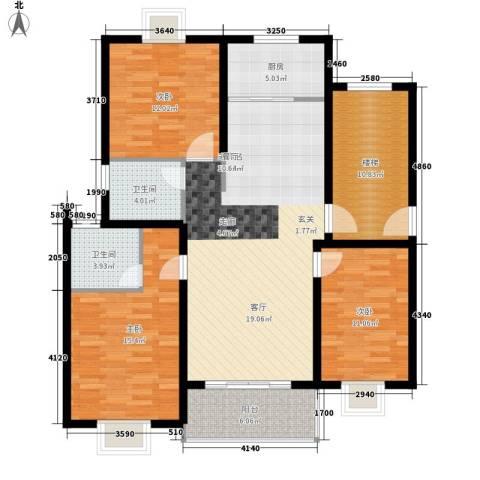 嘉恒・格林恬园3室0厅2卫1厨143.00㎡户型图
