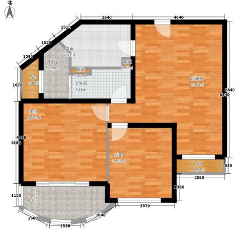 碧玉家园一期2室0厅1卫1厨112.00㎡户型图