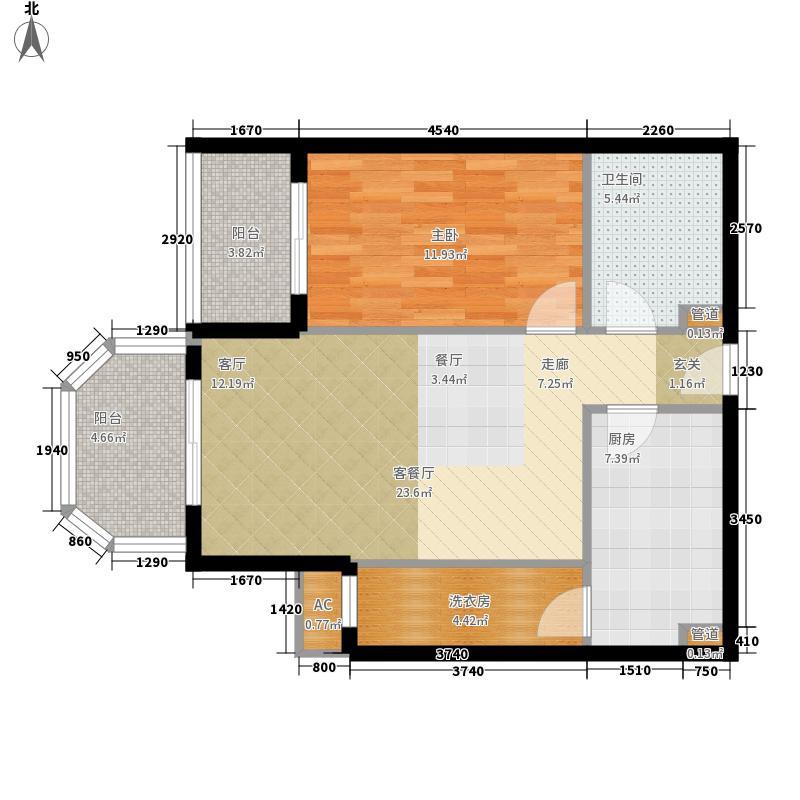 碧玉家园一期一室一厅一卫-67.14-72.83平米户型