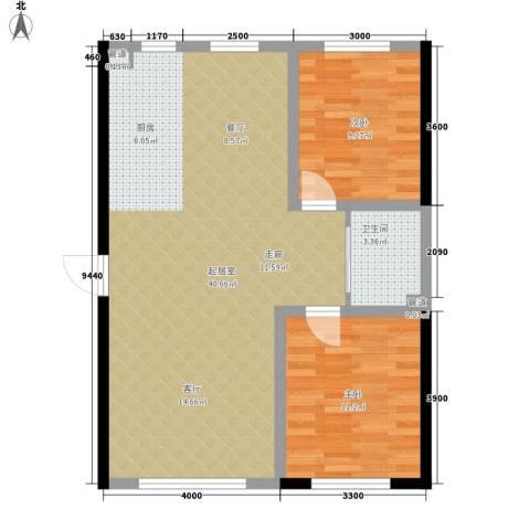 万宏・自在成2室0厅1卫0厨96.00㎡户型图