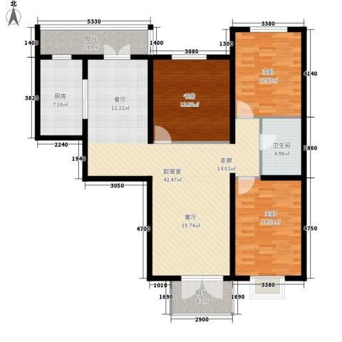 城市花园3室0厅1卫1厨149.00㎡户型图