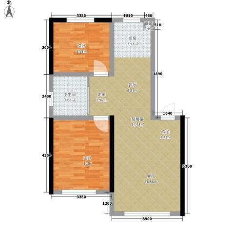 万宏・自在成2室0厅1卫0厨78.00㎡户型图
