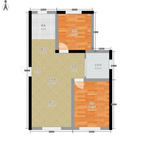 万宏・自在成2室0厅1卫0厨69.00㎡户型图