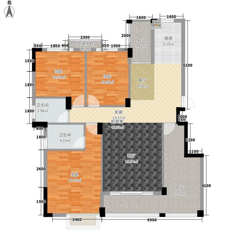 枫桥尚城128.93㎡一期3栋11层D-1户型