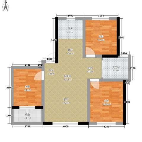 万宏・自在成3室0厅1卫0厨88.00㎡户型图
