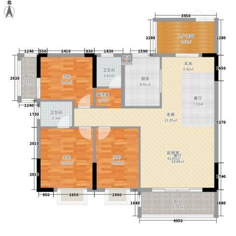 芙景佳园3室0厅2卫1厨150.00㎡户型图