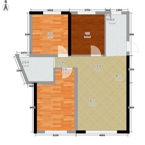 万宏・自在成3室0厅1卫0厨81.00㎡户型图