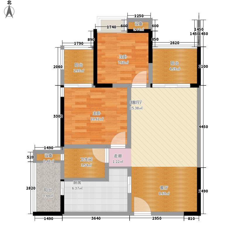 融侨诺丁阳光68.00㎡8、9号楼-B面积6800m户型