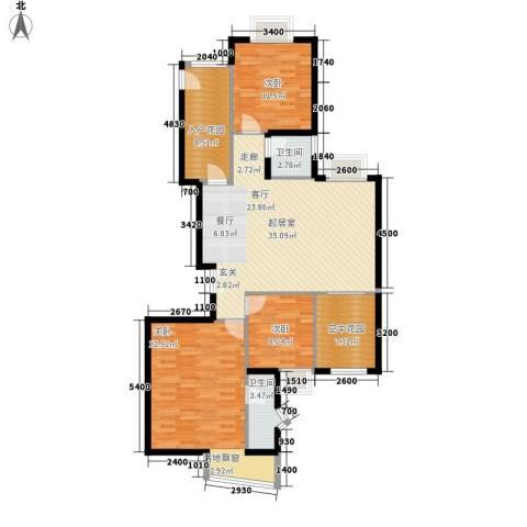 利君明天3室0厅2卫0厨139.00㎡户型图