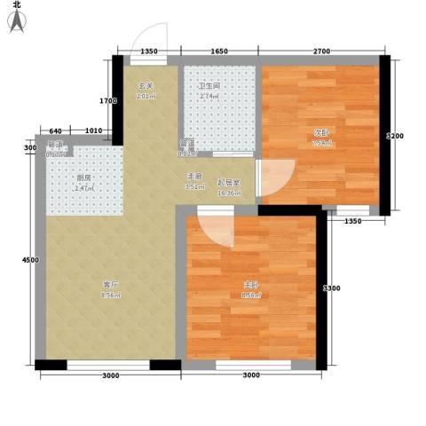 万宏・自在成2室0厅1卫0厨47.00㎡户型图