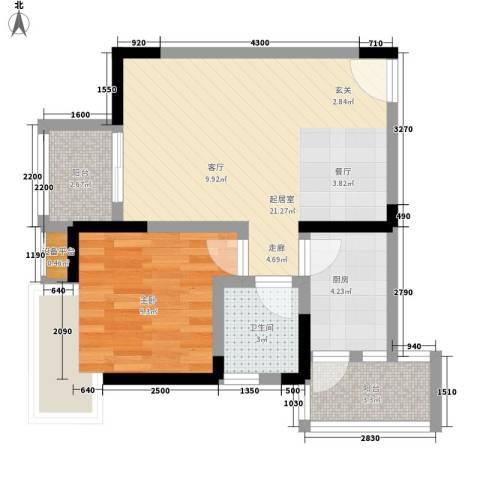 地博春天1室0厅1卫1厨47.00㎡户型图