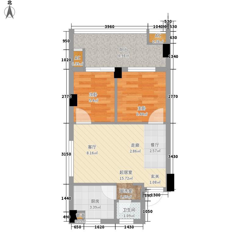 海航新街口46.91㎡C6面积4691m户型