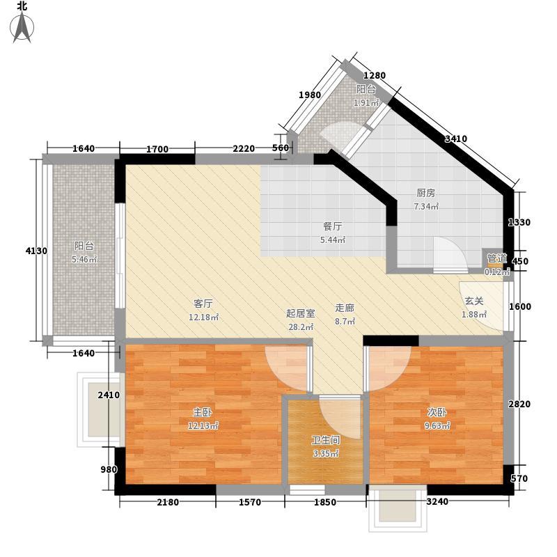 顺欣花园77.53㎡20栋标准层04户型