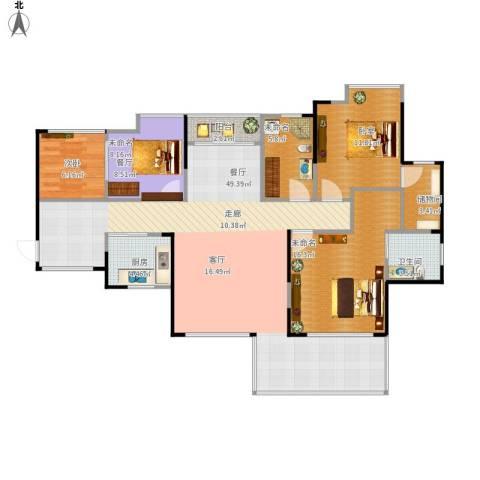 城央一品1室1厅1卫1厨151.00㎡户型图