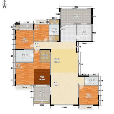 中铁逸都国际4室0厅3卫1厨270.00㎡户型图
