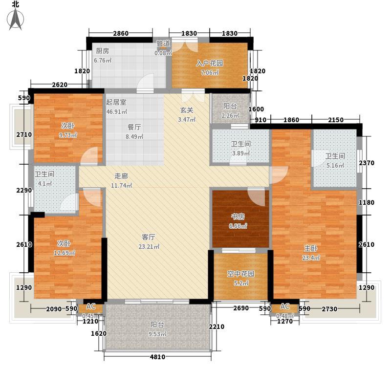 鼎峰国汇山177.31㎡18栋2-27层一单元014室户型