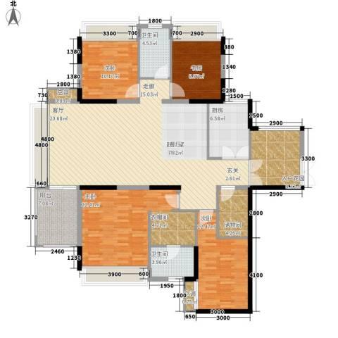 中铁逸都国际4室0厅2卫1厨194.00㎡户型图