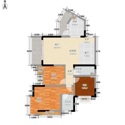 地博春天3室0厅2卫1厨92.00㎡户型图