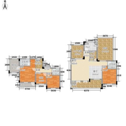 中铁逸都国际4室0厅3卫1厨165.00㎡户型图