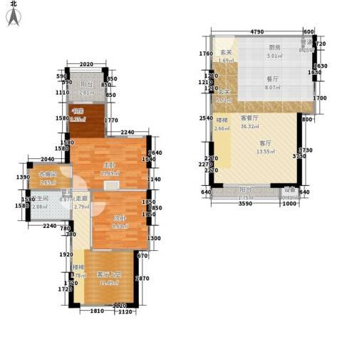 利通城南晶座2室1厅1卫0厨88.00㎡户型图