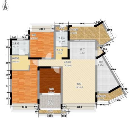 中铁逸都国际3室0厅2卫1厨162.00㎡户型图