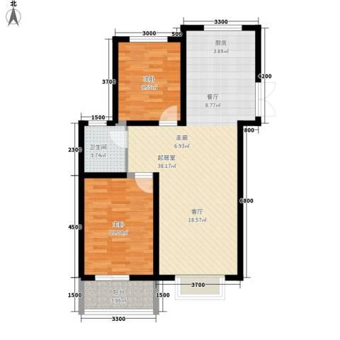 紫御华府2室0厅1卫0厨97.00㎡户型图