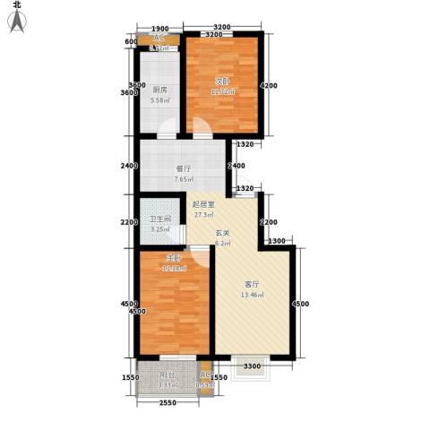 紫御华府2室0厅1卫1厨94.00㎡户型图