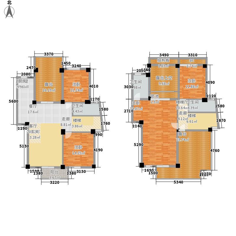 碧园印象桂林184.00㎡23栋B复式户型
