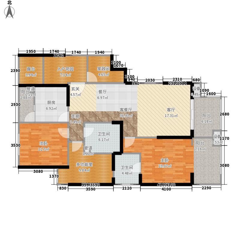 利通城南晶座142.77㎡A型面积14277m户型