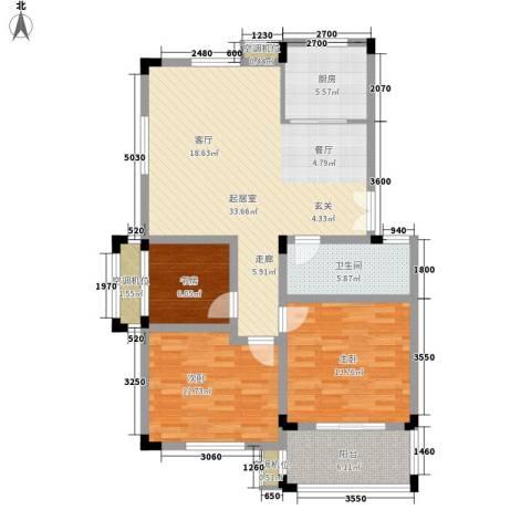 河坊人家3室0厅1卫1厨102.00㎡户型图