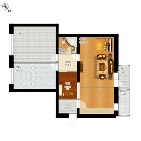 农林小区3室1厅1卫1厨135.00㎡户型图